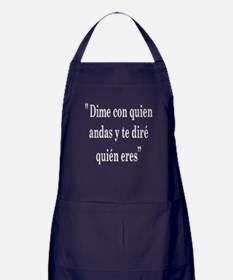 Tell me with who Apron (dark)