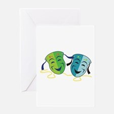 Happy Masks Greeting Cards
