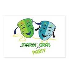 Mardi Party Postcards (Package of 8)