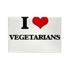 I love Vegetarians Magnets