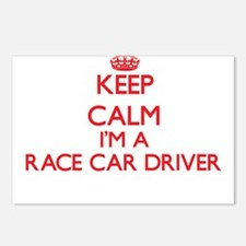 Keep calm I'm a Race Car Postcards (Package of 8)