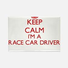 Keep calm I'm a Race Car Driver Magnets