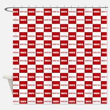 Croatia - Hrvatska Checkered Shower Curtain