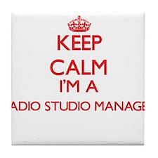 Keep calm I'm a Radio Studio Manager Tile Coaster