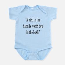 A bird in hand Infant Bodysuit