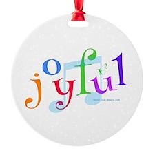 Joyful X 2 Ornament