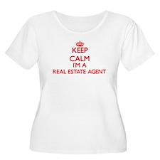 Keep calm I'm a Real Estate Agen Plus Size T-Shirt