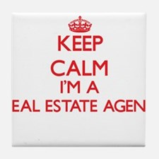 Keep calm I'm a Real Estate Agent Tile Coaster