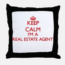 Keep calm I'm a Real Estate Agent Throw Pillow
