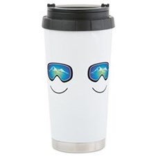 Cute Snowboarding Stainless Steel Travel Mug