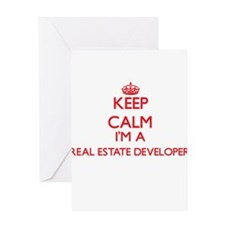 Keep calm I'm a Real Estate Develop Greeting Cards