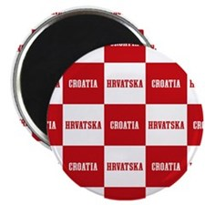 Croatia - Hrvatska Checkered Magnets