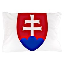 Slovakia Ice Hockey Emblem - Slovak Re Pillow Case