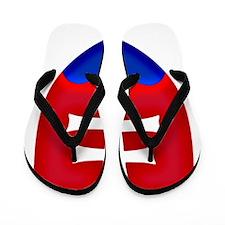 Slovakia Ice Hockey Emblem - Slovak Rep Flip Flops