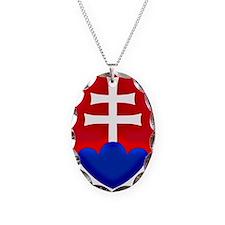 Slovakia Ice Hockey Emblem - S Necklace