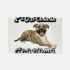 Cute Pit bull grandma Rectangle Magnet