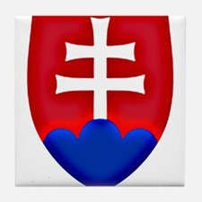 Slovakia Ice Hockey Emblem - Slovak R Tile Coaster