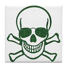 Internet Hacker Skull Tile Coaster