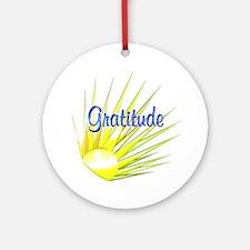 Gratitude Ornament (Round)