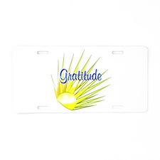 Gratitude Aluminum License Plate