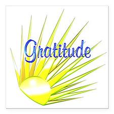 """Gratitude Square Car Magnet 3"""" x 3"""""""
