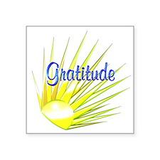 """Gratitude Square Sticker 3"""" x 3"""""""