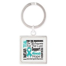 Interstitial Cystitis Square Keychain