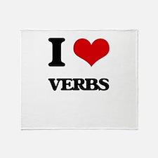 I love Verbs Throw Blanket