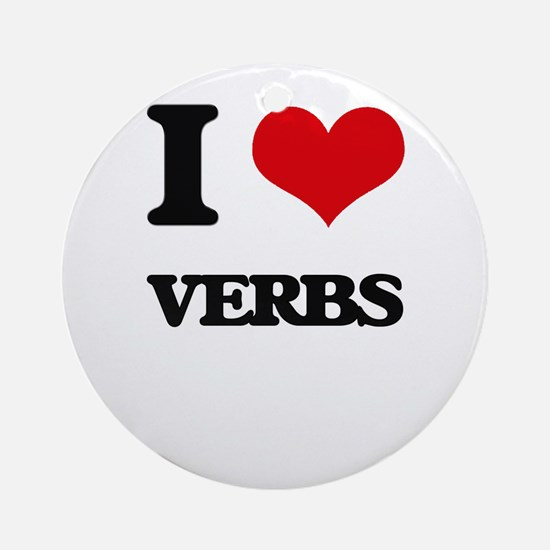 I love Verbs Ornament (Round)