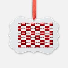 Croatia - Hrvatska Checkered Ornament