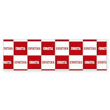 Croatia - Hrvatska Checkered Bumper Bumper Sticker