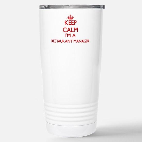 Keep calm I'm a Restaur Stainless Steel Travel Mug