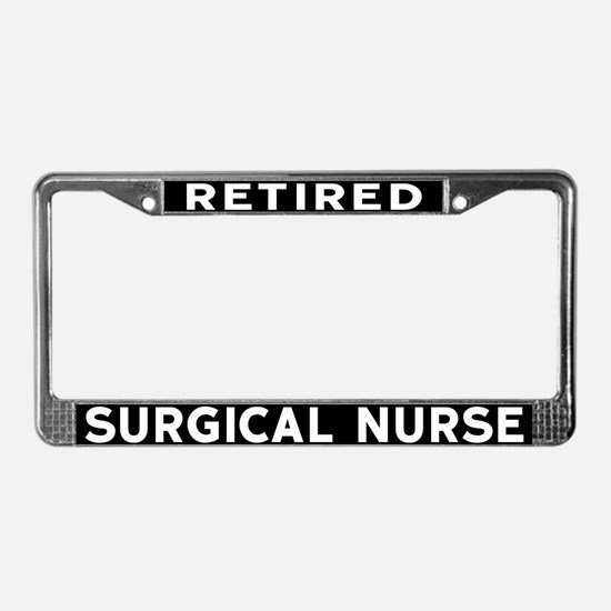 Surgical Nurse License Plate Frame