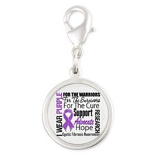 Cystic Fibrosis Silver Round Charm