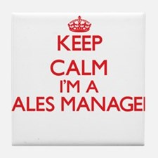 Keep calm I'm a Sales Manager Tile Coaster