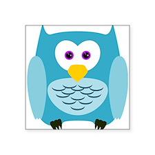 Cute Cartoon Aqua Blue Owl Sticker