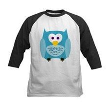 Cute Cartoon Aqua Blue Owl Baseball Jersey
