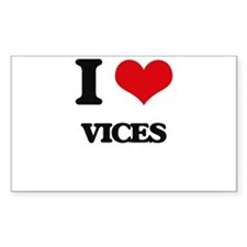 I love Vices Decal