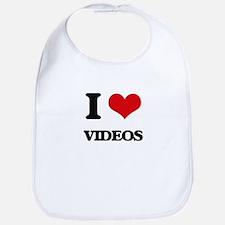 I love Videos Bib