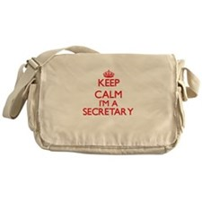 Keep calm I'm a Secretary Messenger Bag