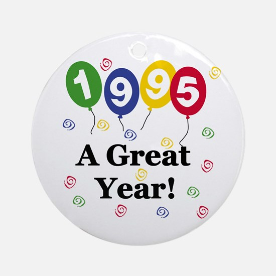 1995 A Great Year Ornament (Round)