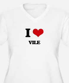 I love Vile Plus Size T-Shirt