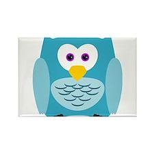 Cute Cartoon Aqua Blue Owl Magnets