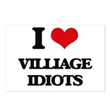 I Love Villiage Idiots Postcards (Package of 8)