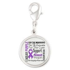 Fibromyalgia Silver Round Charm