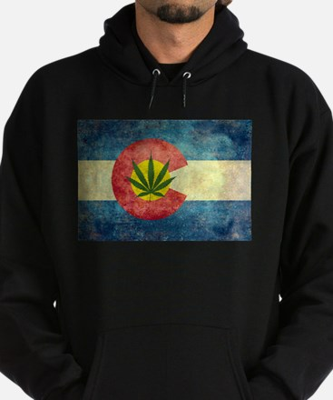 Colorado Weed Flag Hoody