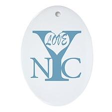 New York City Love b Ornament (Oval)