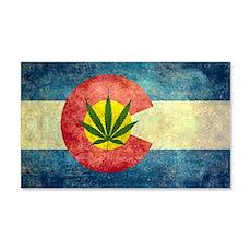 Colorado Weed Flag Wall Decal