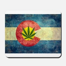 Colorado Weed Flag Mousepad