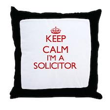 Keep calm I'm a Solicitor Throw Pillow